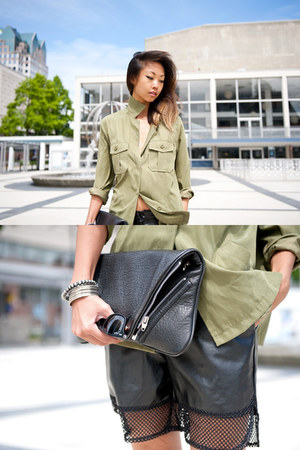 dark khaki Yesstyle shirt - romwe shorts