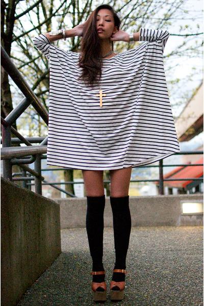 white Filthy Magic dress - black American Apparel socks - beige Vintage Goodie T