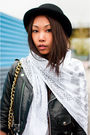 Black-vintage-jacket-blue-j-brand-jeans-white-tna-t-shirt-white-jnby-scarf