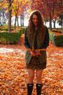 Hunter-boots-rodarte-for-target-dress-zara-jacket-vintage-bag