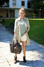 Tan-old-navy-coat-heather-gray-danier-purse-white-forever-21-shorts