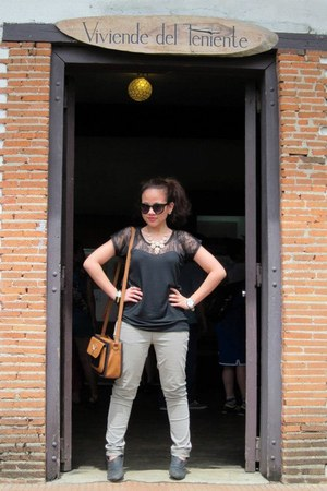 random top - janilyn boots - Promod jeans - Accessorize bag