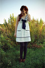 Dark-brown-oxford-charlotte-russe-shoes-ivory-nautical-forever-21-dress