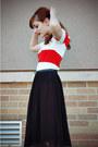 Black-thrifted-shoes-red-forever-21-dress-black-midi-forever-21-skirt