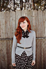 Black-charlotte-russe-dress-mustard-mossimo-tights-black-vintage-belt