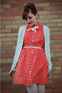 Red-polka-dot-forever-21-dress-dark-brown-oxford-heels-charlotte-russe-shoes