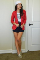 ruby red blazer Charlotte Russe blazer - white stripes Forever 21 sweater