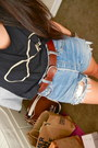 Chain-chloe-isabel-bracelet-vintage-levis-shorts-black-ray-ban-sunglasses