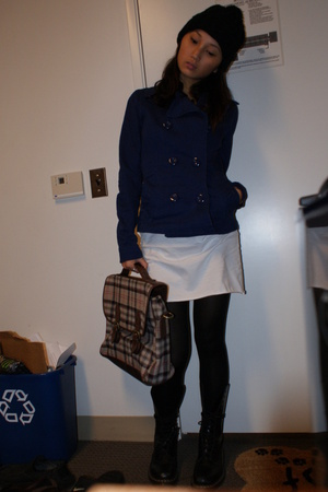 H&amp;M jacket - American Apparel dress - forever 21 hat - doc martens shoes - H&amp;M t
