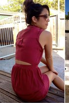 maroon Urban Outfitters dress