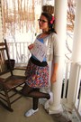 Black-forever-21-tights-pink-forever-21-skirt-blue-forever-21-shirt-silver