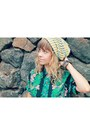 Aloha-hawaiian-silk-company-blouse-strechy-levis-jeans-knit-diy-toque-hat
