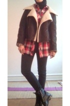 PowWow jacket - f21 shirt - H&M pants - Justin boots - vintage accessories
