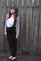 Urban Outfitters t-shirt - papaya cardigan - American Apparel pants