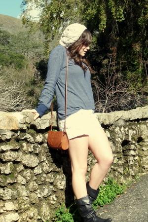 vintage shirt - f21 shorts - vintage boots - Charlotte Russe hat - vintage
