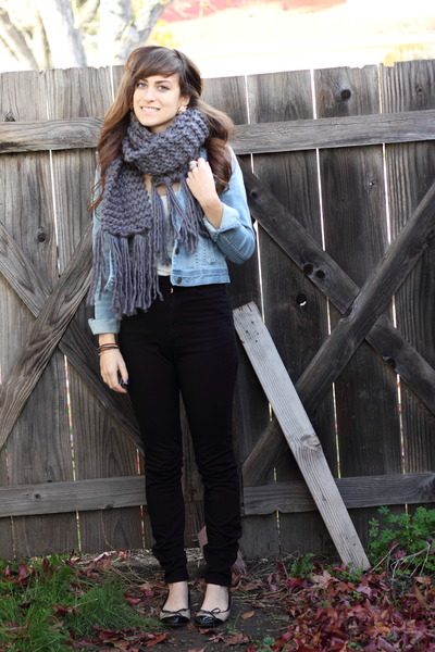 Forever 21 jacket - Forever 21 scarf - American Apparel pants - Forever 21 top