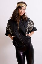 black Eleganly Wasted Vintage jacket