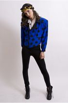 blue Elegantly Wasted Vintage jacket - white Elegantly Wasted Vintage blouse - b