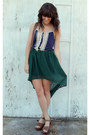 Navy-black-sheep-top-dark-brown-vintage-bag-dark-green-high-low-romwe-skirt