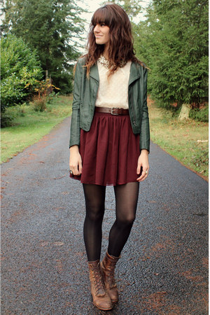 crimson skirt - dark green Black Sheep Clothing jacket
