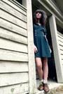 Dark-brown-vintage-shoes-teal-button-vintage-dress-neutral-forever-21-socks