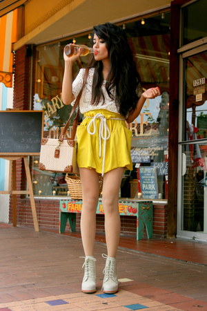 neon skirt Rachel Comey skirt - dakota boots Alexander Wang boots - wish shirt