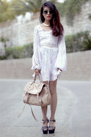 Style Stalker dress - faux python bag Steve Madden bag - Marni heels