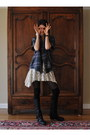 Strategia-boots-free-people-dress-vintage-embellished-flannel-shirt