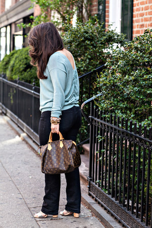 Rachel Zoe sweater - sam edelman shoes - ann taylor jeans - Louis Vuitton bag