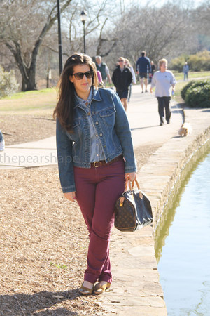 ann taylor jeans - Louis Vuitton bag - Chanel flats