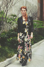 Black-leather-ankle-vince-camuto-boots-bubble-gum-90s-floral-maxi-kensie-dress
