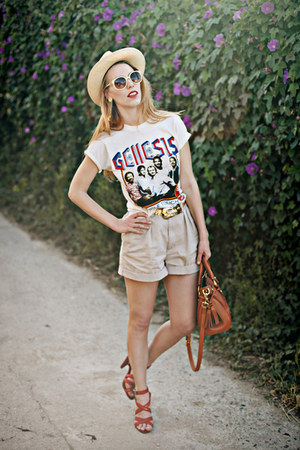 vintage rock t vintage T-shirt t-shirt - tasseled Doonie and Bourke bag