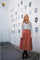 asos skirt - H&M top - Zara heels