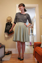 thrifted skirt - Old Navy sweater - Old Navy flats
