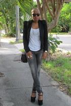 Jeffrey Campbell pumps - Zara jeans - stylestalker blazer - Kelsi Dagger bag