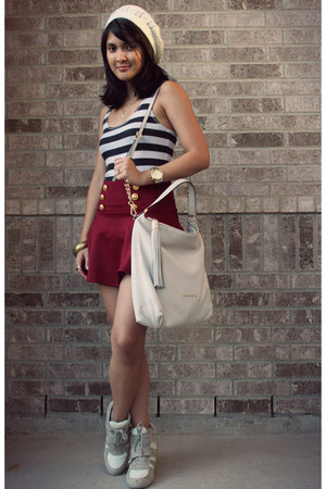 ruby red Image skirt - off white sneaker wedges Charlotte Russe shoes