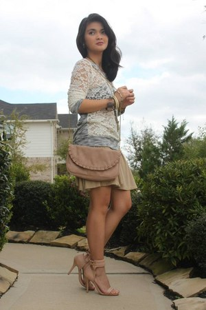 ivory American Dream sweater - light pink Forever 21 purse - neutral Agaci skirt