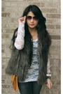 Fur-charlotte-russe-vest-wet-seal-top