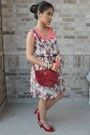 Ruby-red-peeptoes-material-girl-shoes-salmon-dress-brick-red-purse