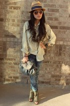 X Appeal shoes - ripped rugged material girl jeans - straw No Boundaries hat