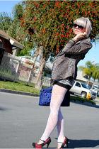 black shopnastygal shorts - silver Alexander McQueen shirt - blue Forever 21 pur