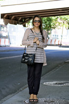 Lush pants - Ray Ban shirt - Rebecca Minkoff purse - Michael Kors sandals