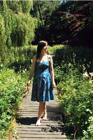 blue Anthropologie dress