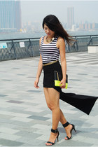 black high low hem asos skirt