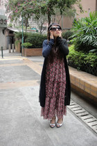 maxi dress vintage dress - headband Forever 21 accessories