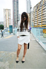 White-wrap-zara-skirt-white-river-island-jumper