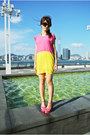 Color-block-imiko-dress-hot-pink-river-island-necklace