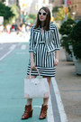 Stripe-nanette-lepore-dress-stripe-nanette-lepore-jacket-danielle-nicole-bag