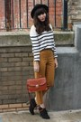 Breton-stripe-sweater-gold-ankle-grazer-pants