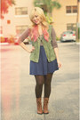 Tan-old-navy-top-olive-green-zara-vest-navy-charlotte-russe-skirt